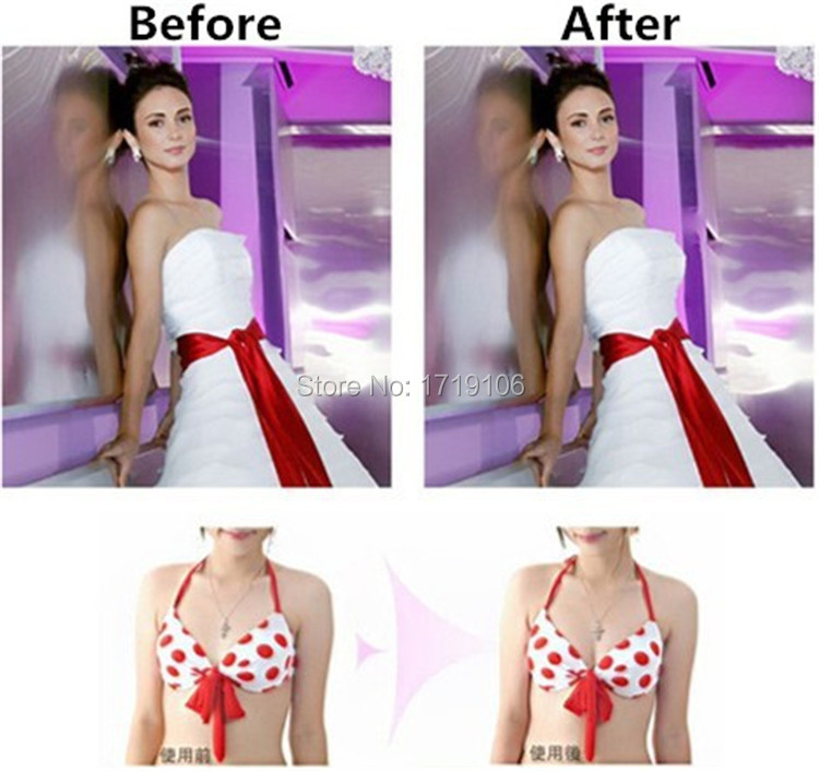 Sexy Adhesive Bra Backless Strapless Thicken Bras To Make Bigger Cups Seamless Invisible Bras For Women Wedding Party Underwear 4