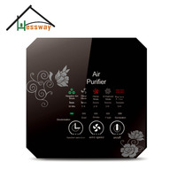 Office acrylic material Activated carbon air filter with air purifier ionizer