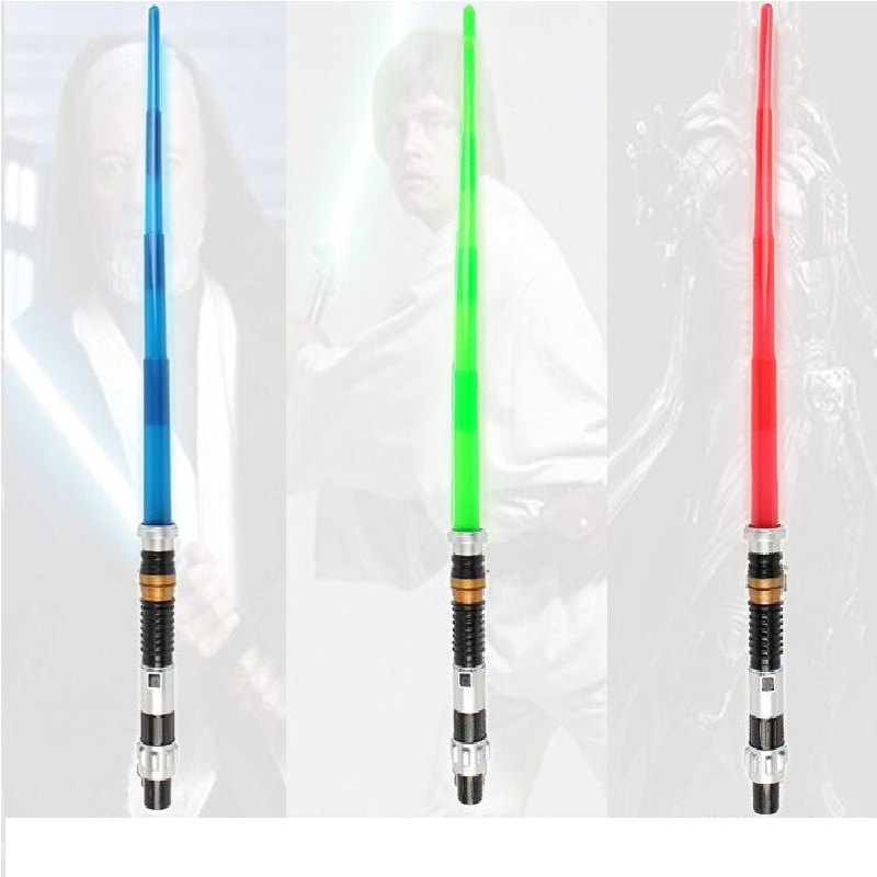 Luminous Cosplay Toys Star Wars Weapon Electronic Lightsaber Star Wars Weapons Sword with Light Sounds Light Saber Telescopic
