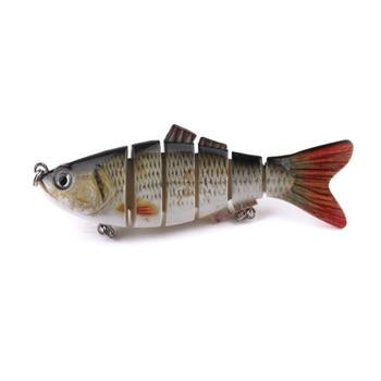 HENGJIA 60pcs Wobblers Lifelike Fishing Lure 6 Segment Swimbait Isca Artificial Lures Tackle - sale item Fishing