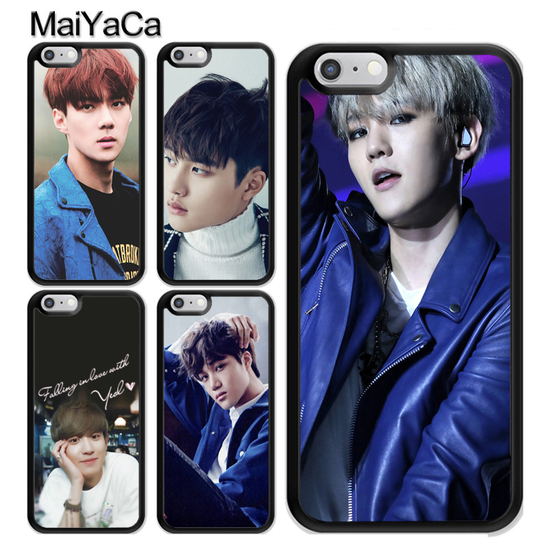 MaiYaCa EXO KPOP Chanyeol Backhyun For iPhone 6 6s TPU Plastic Phone Case For iPhone X 7 8 Plus 6 6s 5 5s SE Back Cover Coque