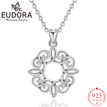Eudora 925 Sterling Silver Lucky Celtics Knot Pendant Necklaces for Women Girls Romantic Gift Fashion Sterling-silver Jewelry eudora unique design 925 sterling silver celtics knot love pendant necklaces fashion women jewelry party wedding gift ksyd200