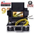 4500mAh SYANSPAN 200M Pipe Inspection Video Camera 9 Monitor 8GB TF Card DVR IP68 Drain Sewer Pipeline Industrial Endoscope