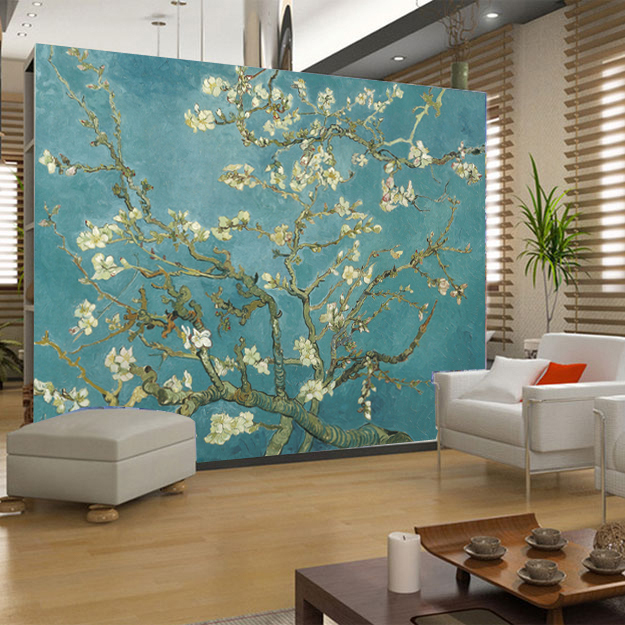 Popular famous painting wallpaper buy cheap famous painting wallpaper lots from china famous for Best paintings for living room