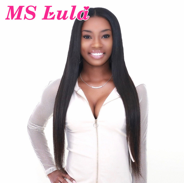 MS Lula Pre Plucked Brazilian Straight 360 Lace Frontal Wig Medium Size 180% /250%Density Natural Hairline Hair Remy Human Hair