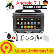 Android 7,1 автомобилей Радио dvd-плеер gps-навигация Авторадио Bluetooth, Wi-Fi USB AUX DAB для Kia Sportage R 2010 2014 2011 2013 2015