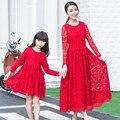 Мать дочь долгосрочной кружева чешские соответствия мать-дочь одежды платье семья взгляд матери-дочери наряды