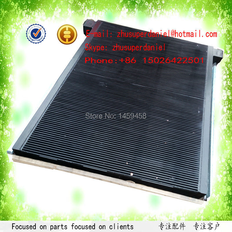 WJIER black aluminum plate-fin air oil radiator 39917927 for Screw Air Compressor Parts цена