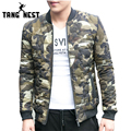 TANGNEST 2017 Winter Men's Camouflage Stand Collar Skinnt Parka New Arrival Fashion Style Male Asian Size Coat MWM1605