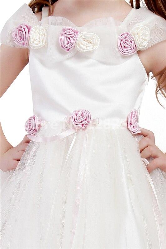 2e96d1f4a291 Fancy Ball Gown Flower Girl Dresses Tulle Raso Prima Comunione Abiti Damine  Gown Bella vestido de daminha in Fancy Ball Gown Flower Girl Dresses Tulle  Raso ...