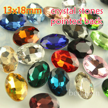 30pcs  13x18mm oval Crystal machine cuts Stones Pointed back Glass rhinestones  For Jewelry Making Garment  Use link1