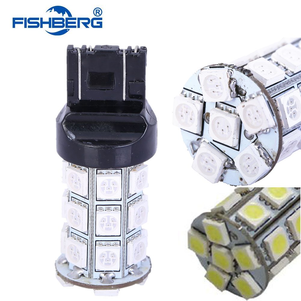 2шт/лот T20 светодиодные лампы w21w в 27 СМД 5050 дневные ходовые огни движения задним ходом сигнал свет лампы 7440 7441 992 992A ФИШБЕРГ
