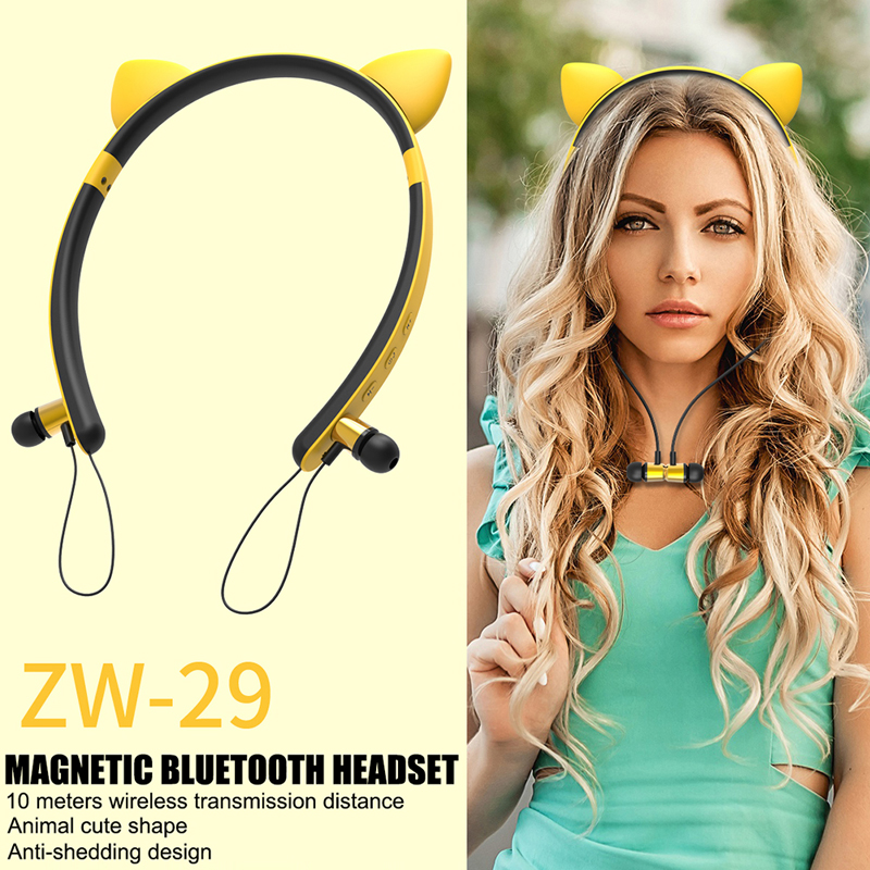 Hair Band Bluetooth Wireless Cat Ear Headphones Gaming Headset Earphone With Led Light For Pc Laptop Computer Mobile Phone Gifts Bluetooth Earphones Headphones Aliexpress