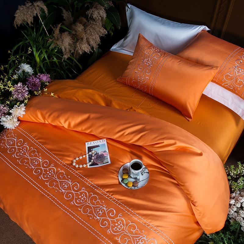 (3)  White silver cotton imitate silk luxurious Bedding Set queen king measurement mattress set Bedsheets linen Europe embroidery Quilt cowl set HTB1AgoUgOOYBuNjSsD4q6zSkFXas