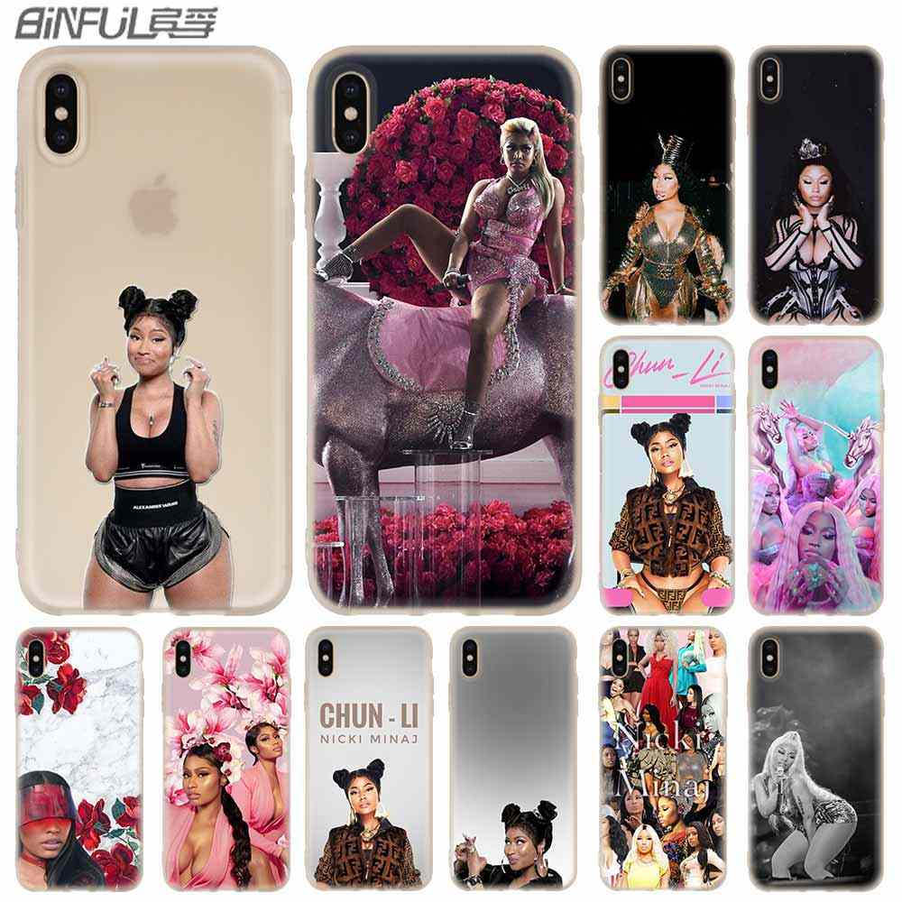 Nicki Minaj pokrowiec miękki do iPhone 11 12 Pro X XS Max XR 6 6S 7 8 Plus 5S SE 9 Mini