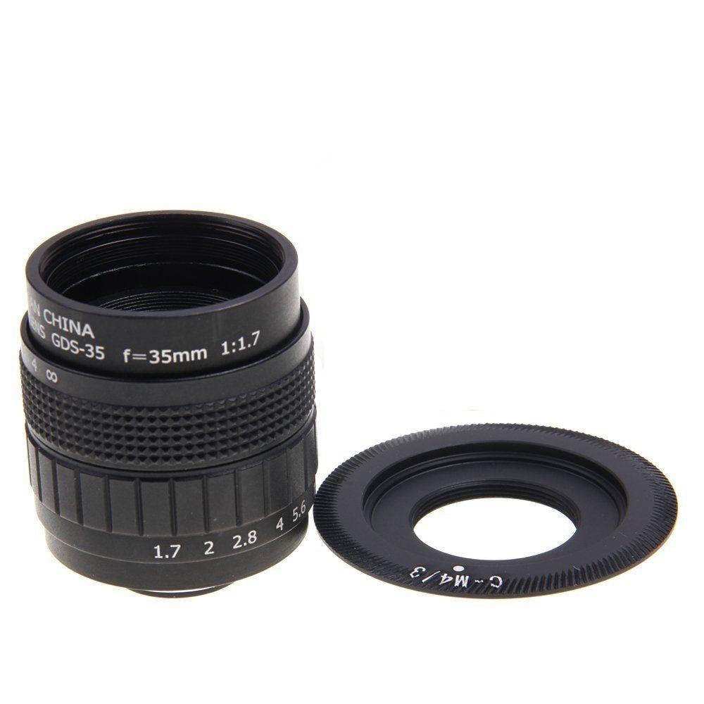 FUJIAN 35mm F1.7 C Mount CCTV F1.7 Lens for Micro 4/3 m4/3 Olympus EPL5 EPM3 EPL7 OM-D EP1 EP2 EP3 EP6 EPL6 EPL3 E-M5 E-M10