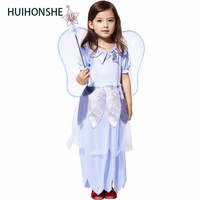 Kids Baby Girls Halloween Party Costumes Flower Fairy Tinker Bell for Girl Elf Tinkerbell Princess Dress Up Costume with Wing