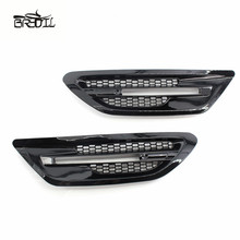 1 Pair For F10 M5 Sedan Gloss Black Side Grill Fender Vent Grille Replacement Cover