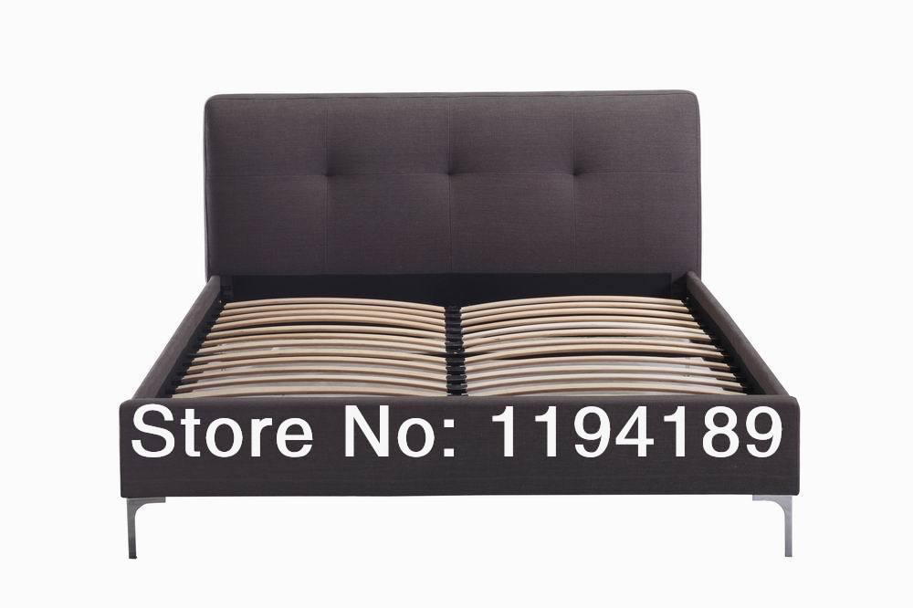 aliexpresscom buy fabric queen bed frame leather pu linen furniture bedroom king bed frame furniture king bed frame bedroom wooden living room from - Buy Queen Bed Frame