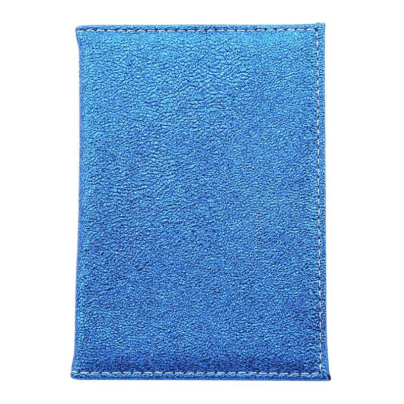 Роскошная однотонная Обложка для паспорта для женщин, чехол для паспорта, кожаный милый кошелек для паспорта, держатель для паспорта - Цвет: blue