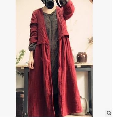 Manteau Yards Lin Rouge Conception Haut De 2016 Au En Gamme Nouveaux Printemps Listés Femmes Originale Coton Vrac Produits Grande 100 La Poussière w1qyZTHfx