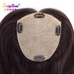 Originea парик из натуральных волос для женщин Чистая База Размеры 13*15 см волос длина 12 дюймов 30 замена системы натуральный черные волосы Remy