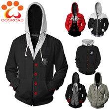Cosroad ゲームペルソナ 5 コスプレパーカー仁雨宮 P5 スウェット男性女性 3D プリントトラックスーツストリート春ジャケットコート