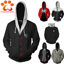 Cosroad เกมคอสเพลย์ Hoodies Ren Amamiya P5 Sweatshirts ผู้ชายผู้หญิง 3D พิมพ์ Streetwear ฤดูใบไม้ผลิเสื้อแจ็คเก็ต