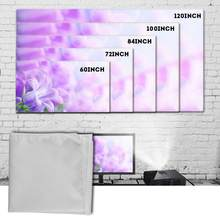 60-120 Inch Portable Projector Curtain Fabric Projection Screen 16:9 White for outdoor camping movie High Quality Free Shipping(China)