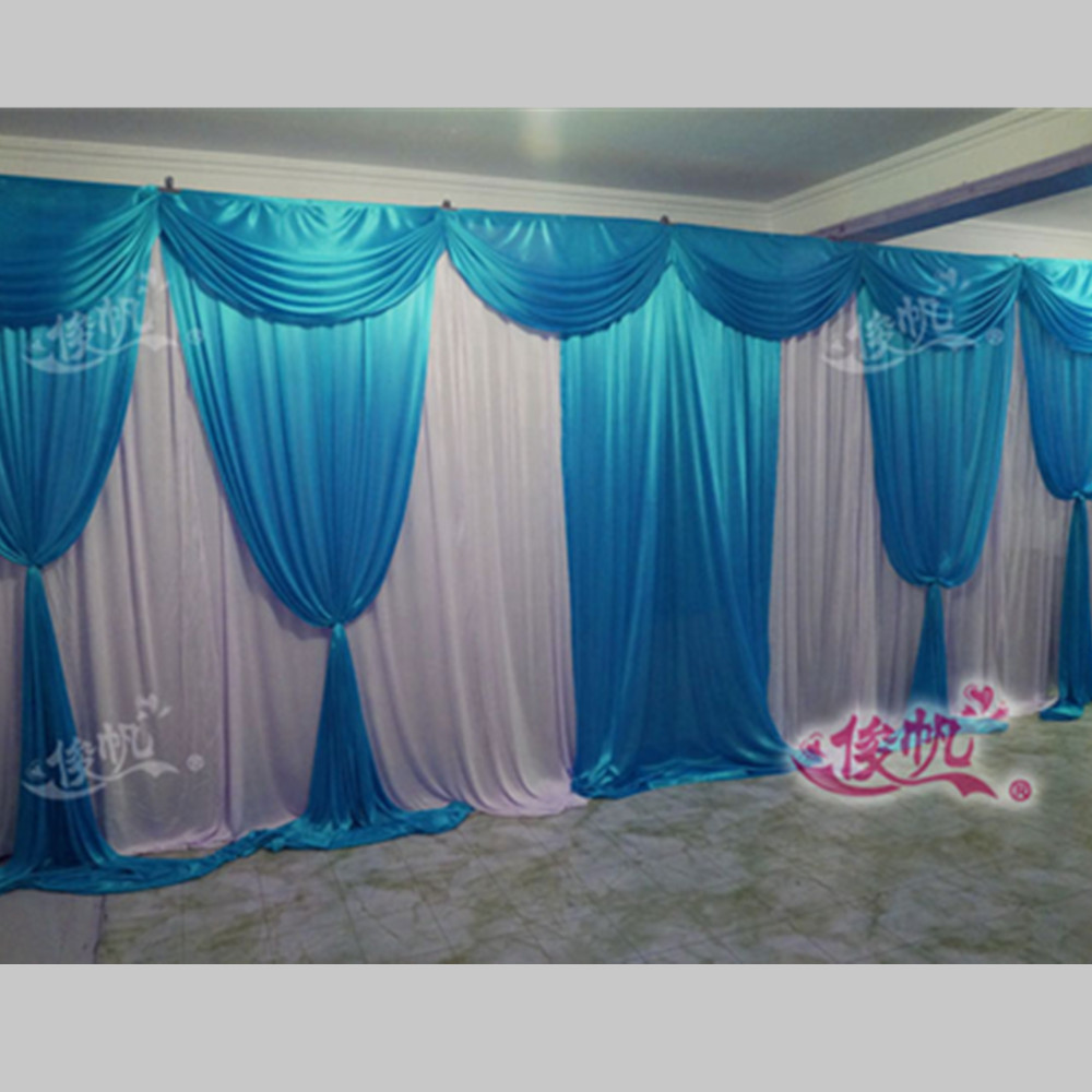 Curtains Wedding Decoration Online Get Cheap Wedding Backdrop Curtains With Swag Blue
