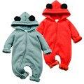 Fleece inverno Macacão de Bebê Animal Bonito Com Capuz Macacões Para O Bebê Das Meninas Dos Meninos Roupas De Bebe Macios Newbron Roupas Da Moda Bebê