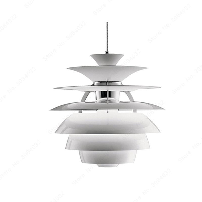 BDBQBL boule de neige pendentif lumières du nord de l'europe originalité lampe à suspension AC 90-240V E27 chambre café Restaurant LED Hanglamp