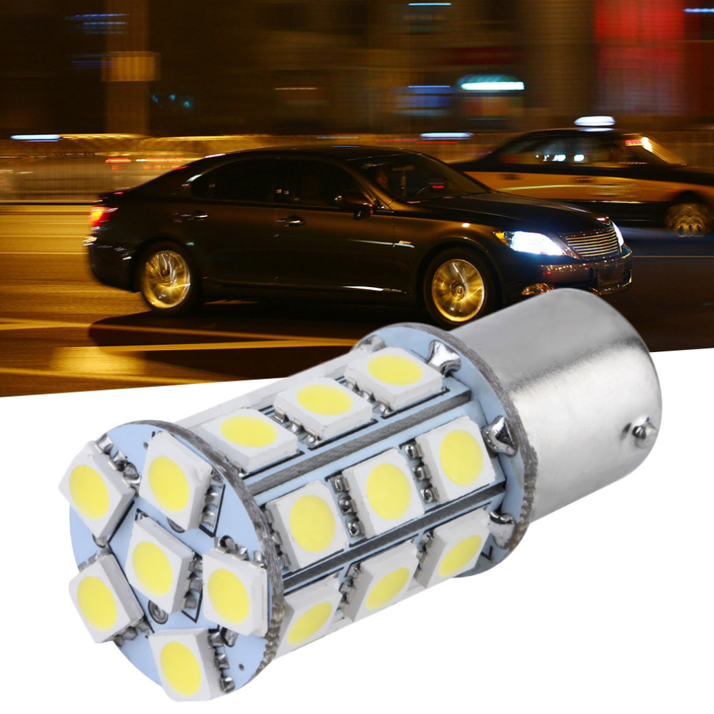 Super Bright T25/S25 1156 BAY 15D White SMD LED Auto Car Styling Stop Tail Brake Light Bulb 12V Low Power Consumption Bulb HOT