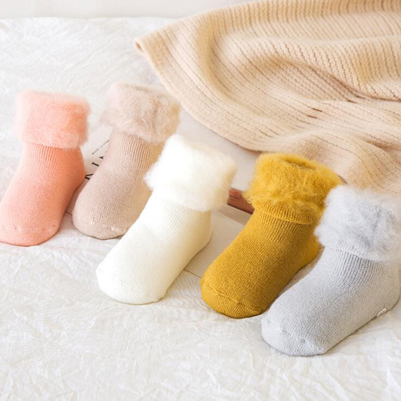 New Thick Baby Toddler Socks Autumn And Winter Cashmere Warm Male Baby Female Baby Non-slip Foot Sock