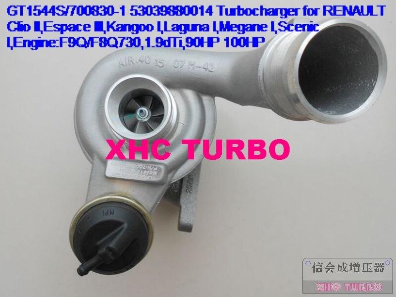 NOVÝ GT1544 / 700830-1 Turbodmychadlo s turbodmychadlem pro RENAULT Clio II Espace III Kangoo I Laguna I F9Q / F8Q730 1.9dTi 90HP