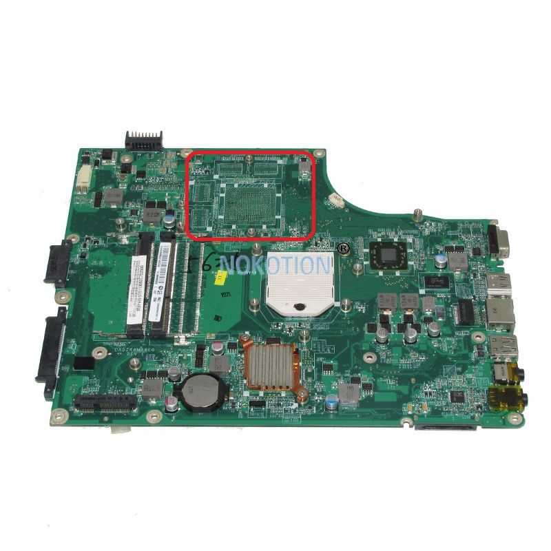 NOKOTION laptop motherboard for acer aspire 5553 5553G DA0ZR8MB8E0 MBPV606001 MB.PV606.001 Main board free cpu full test nokotion je40 cp mb for acer aspire 4741 4741g laptop motherboard 48 4gy02 051 hm55 ddr3 gt540m