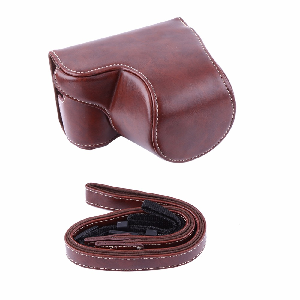 Pu Leather Camera Case Bag For Sony A5000 A5100 Nex3n And 16 50mm Alpha Kit Lens In Video Bags From Consumer Electronics On