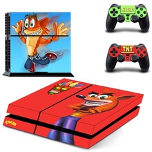Crash Bandicoot N Sane Trilogy PS4 Skin Sticker Decal Vinyl for Sony Playstation 4 Console and 2 Controllers PS4 Skin Sticker