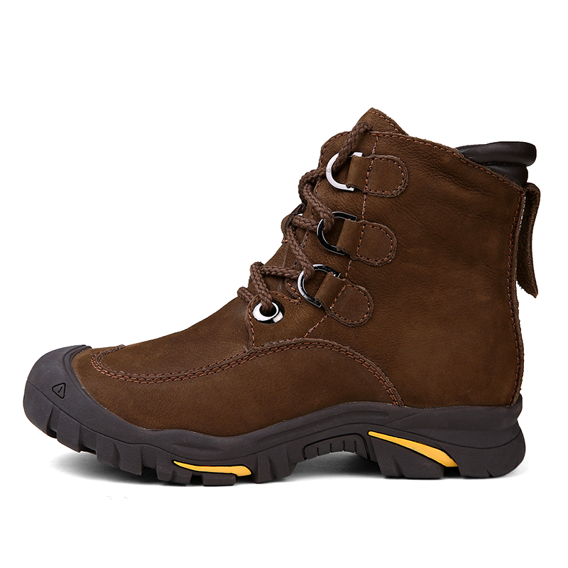 ~ 38 Brown Red Size Botas Neve wine Sapatos De Dekesen Tamanho Inverno Grain Quente Handmade Couro 49 Completa Russa Homens Marca Estilo Plus SBzqw8R