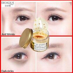 BIOAQUA Золотая осмотическая маска для глаз против морщин сна патч для кожи вокруг глаз патчи для глаз темный круг маска для ухода за кожей лица...