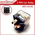 10 X coche relay plug caja DC12v 40A Automoción Auto Relay 5 pines Auto faro Arnés Auto Relay Socket 30 85 86 87 87a