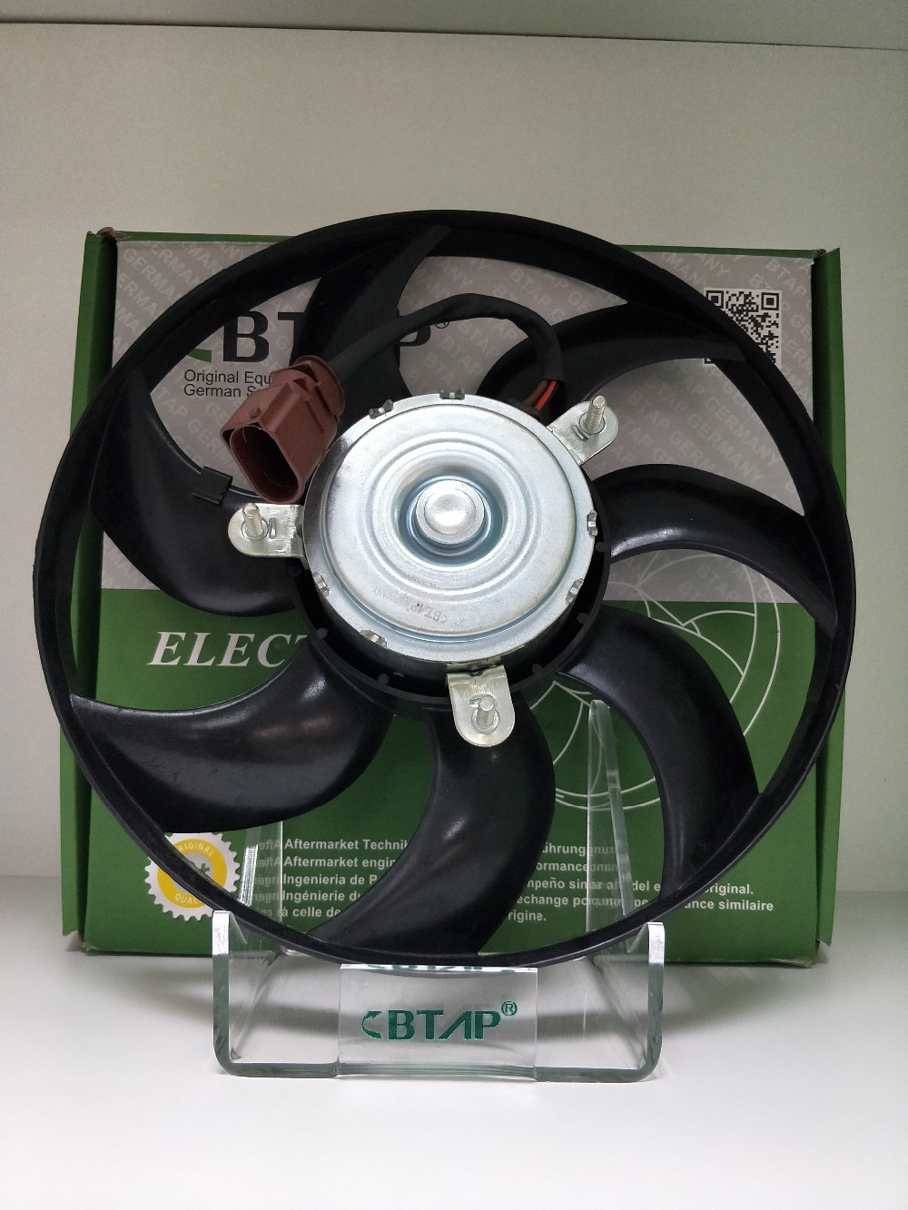 BTAP German Specification Original Equipment Quality Radiator Cooling Fan Assembly For AUDI A3 TT PASSAT TIGUAN GOLF 1K0959455DH radiator cooling fan relay control module for audi a6 c6 s6 4f0959501g 4f0959501c