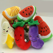 New Arrival Dog Toys Pet Puppy Chew Squeaker Squeaky Plush Sound Cute Fruit & Vegetable Designs Toys
