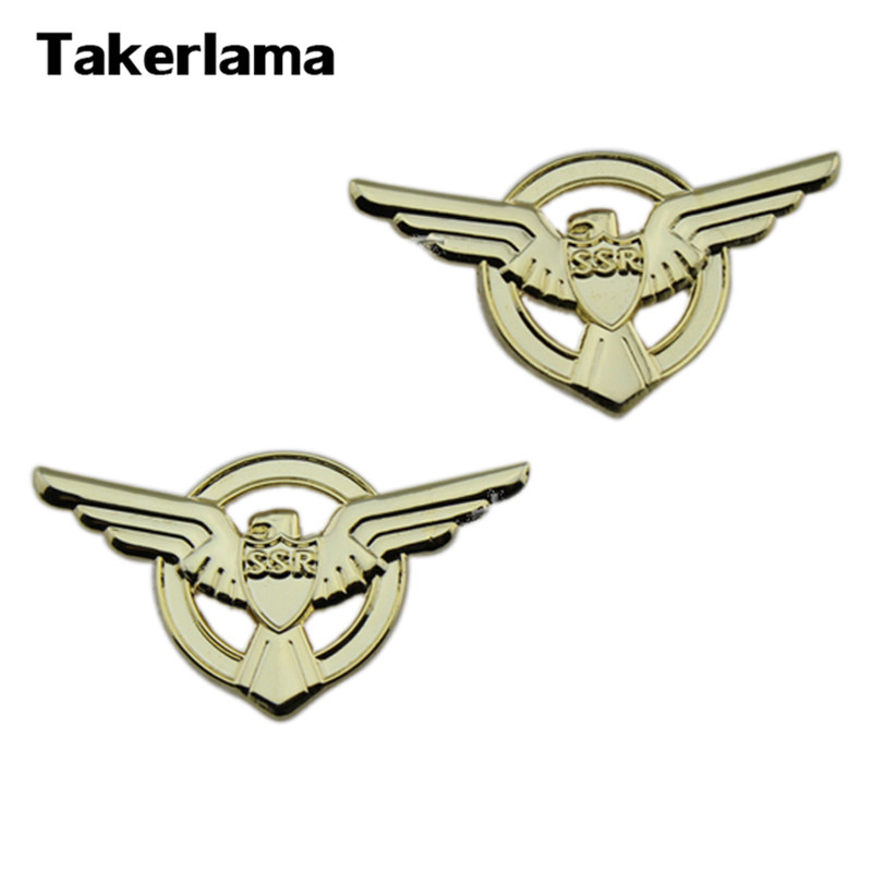 Takerlama 1 Pair Strategic Scientific Lapel SSR Badge Captain America Agent Badge Pins Cosplay Props
