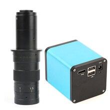 פוקוס אוטומטי מיקרוסקופ HDMI מצלמה 1080P 60FPS SONY IMX290 גבוהה מהירות חיישן תמונה 120/180X C mount עדשה עבור PCB תיקון ביקורת
