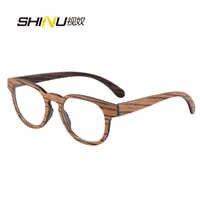 Wysokiej klasy moda drewniane okulary ramka optyczna optyczne okulary przeciw zmęczeniu drewniane okulary 133