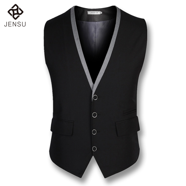 2016 Men Sleeveless Blazers Vest Jackets Men's Casual Fashion Slim Business Dress Blazers Veste De Loisir Notched Lapel Blazers
