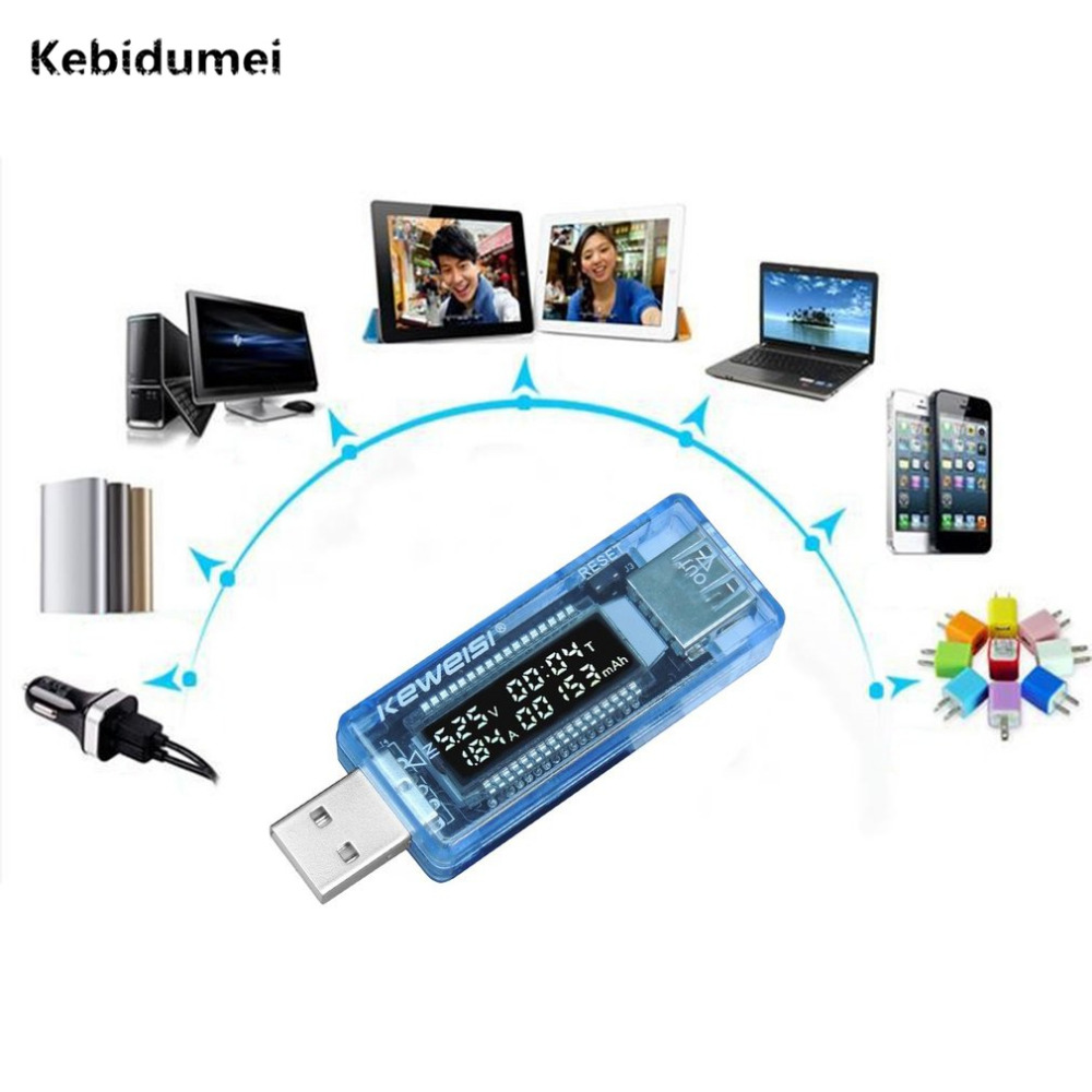Kebidumei USB Gadgets Meter Practical Power Bank Volt Current Voltage Doctor Charger