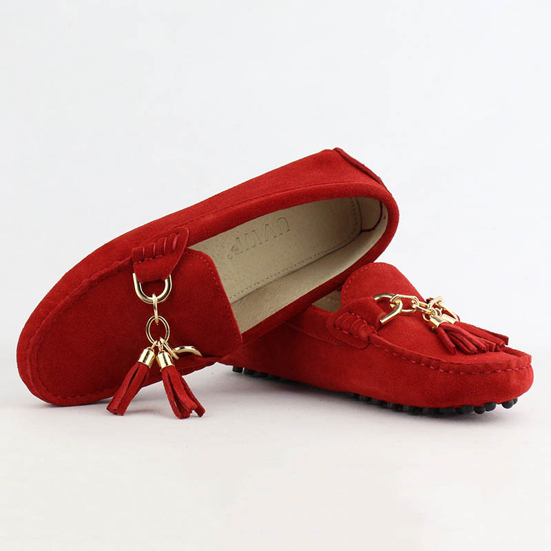 Image 5 - 2020 Fashion Women Genuine Leather Flat Shoes Handmade Moccasins Lady Leather Loafers Casual Driving Shoes Women Flats Shoesdriving shoes womenfashion flat shoesflat shoes -