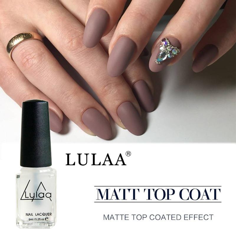 Lulaa 6ml Matte Top Coat UV Long Lasting Matte Nail Gel Polish DIY ...